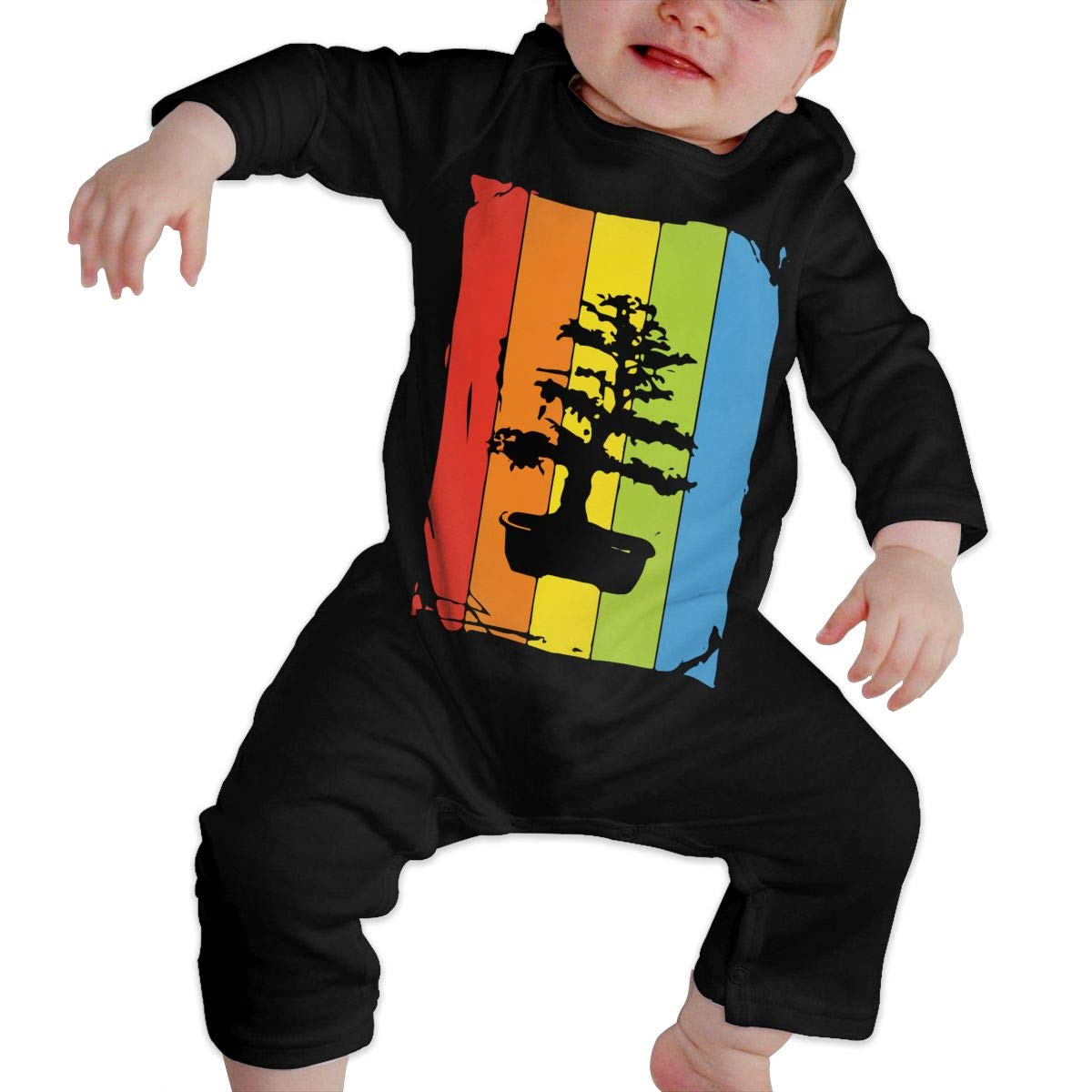 Rainbow Bonsai Tree Newborn Kids Long Sleeve Romper Jumpsuit Jumpsuit