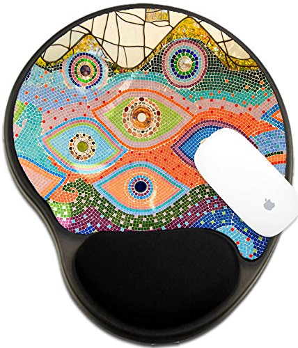Luxlady Mousepad wrist protected Mouse Pads/Mat with wrist support design IMAGE ID: 24808848 Colorful glazed ()