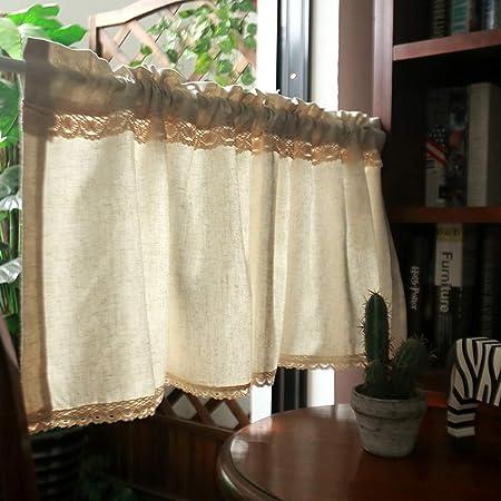 Amazon De Kitchen Curtains Cafe Vorhange Scheibengardine Landhaus Gardinen Schlafzimmer Vorhange