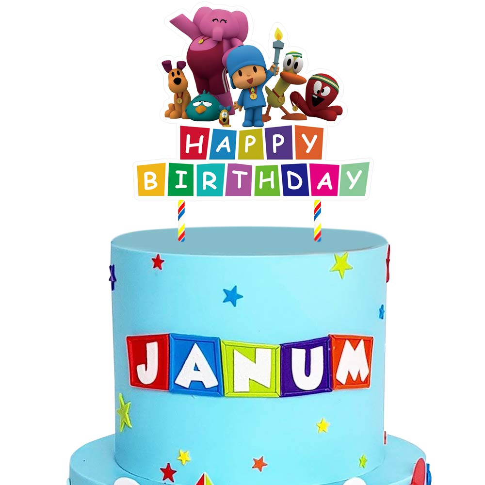 Excellent Pocoyo Cake Topper Birthday Cake Decorations Party Supplies For Funny Birthday Cards Online Elaedamsfinfo