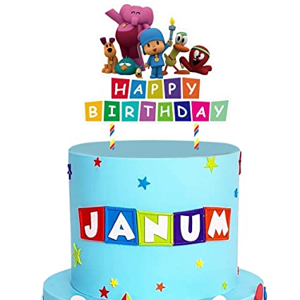 Enjoyable Pocoyo Cake Topper Birthday Cake Decorations Party Supplies For Funny Birthday Cards Online Benoljebrpdamsfinfo