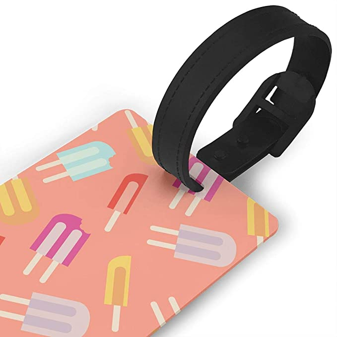 e2c75cdd54f7 Amazon.com: Diemeouk Luggage Tags For Suitcases Popsicle PVC Baggage ...
