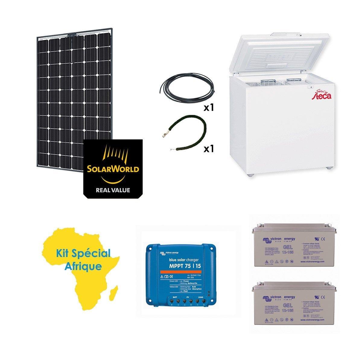 Kit Solar especial África 260 W frigorífico congelador steca 166L ...