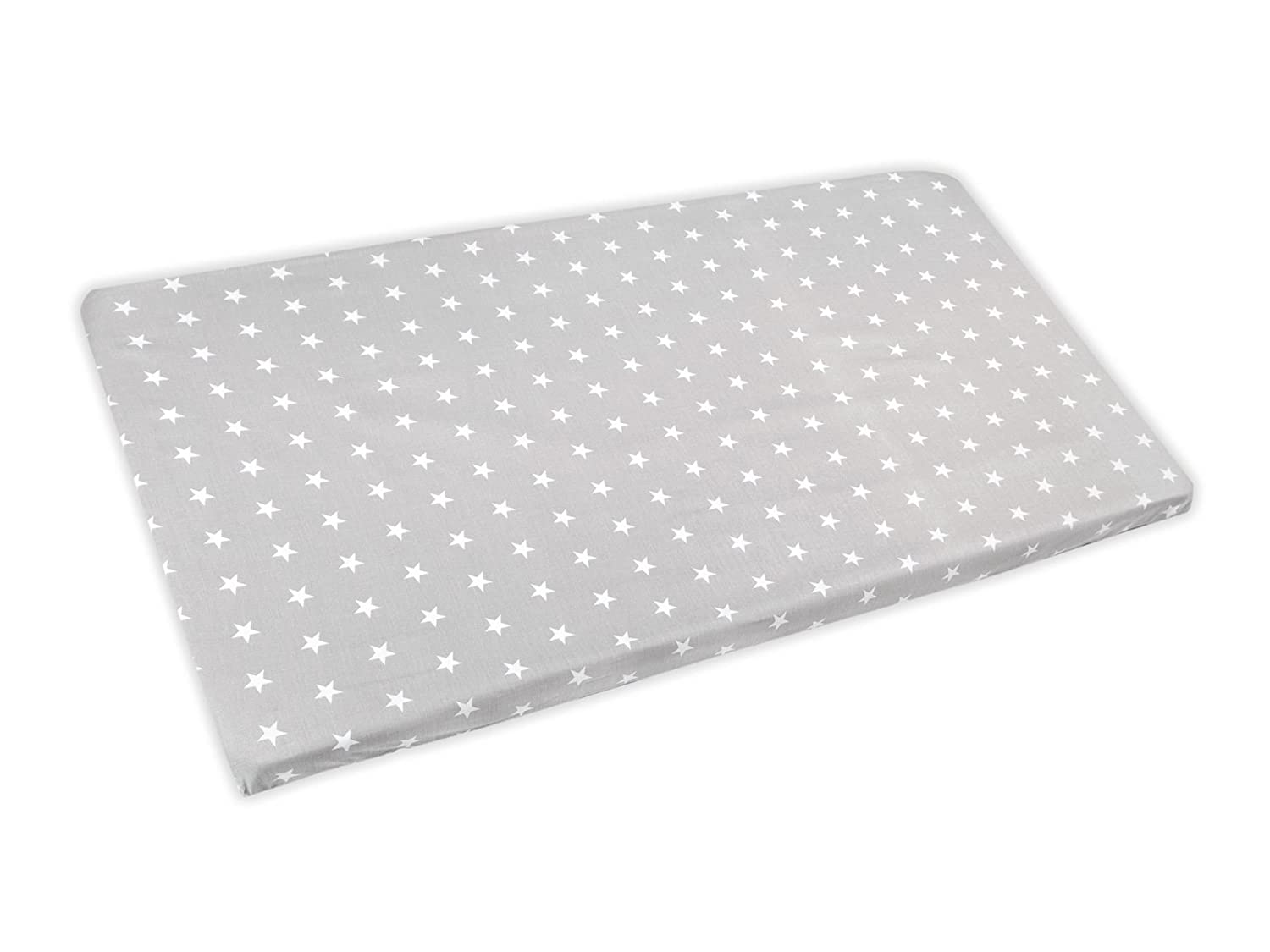 Baby Cot Cotton Fitted Sheet 120x60 cm, Fits Cot - Pattern 21 Baby Comfort