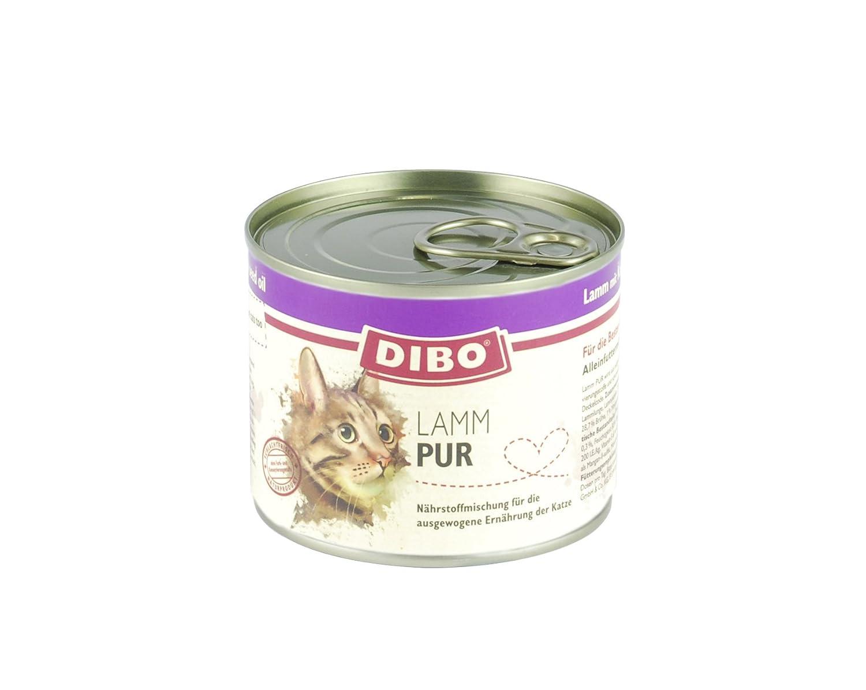 dibo Cat Cordero, 6 x 185 g de lata, gato Forro, húmedo Forro ...