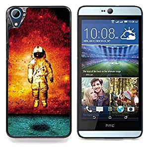 "Qstar Arte & diseño plástico duro Fundas Cover Cubre Hard Case Cover para HTC Desire 826 (Grunge Astronauta Arte"")"
