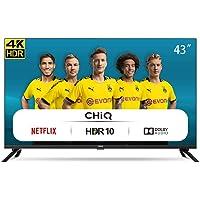 CHiQ Televisor Smart TV LED 43 Pulgadas, Resolución 4K UHD, HDR 10/HLG, WiFi, Bluetooth (Solo Auriculares y Altavoces…