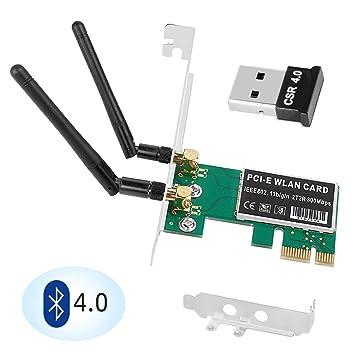 Amazon.com: QNINE - Tarjeta PCIe WiFi de 300 Mbps con ...