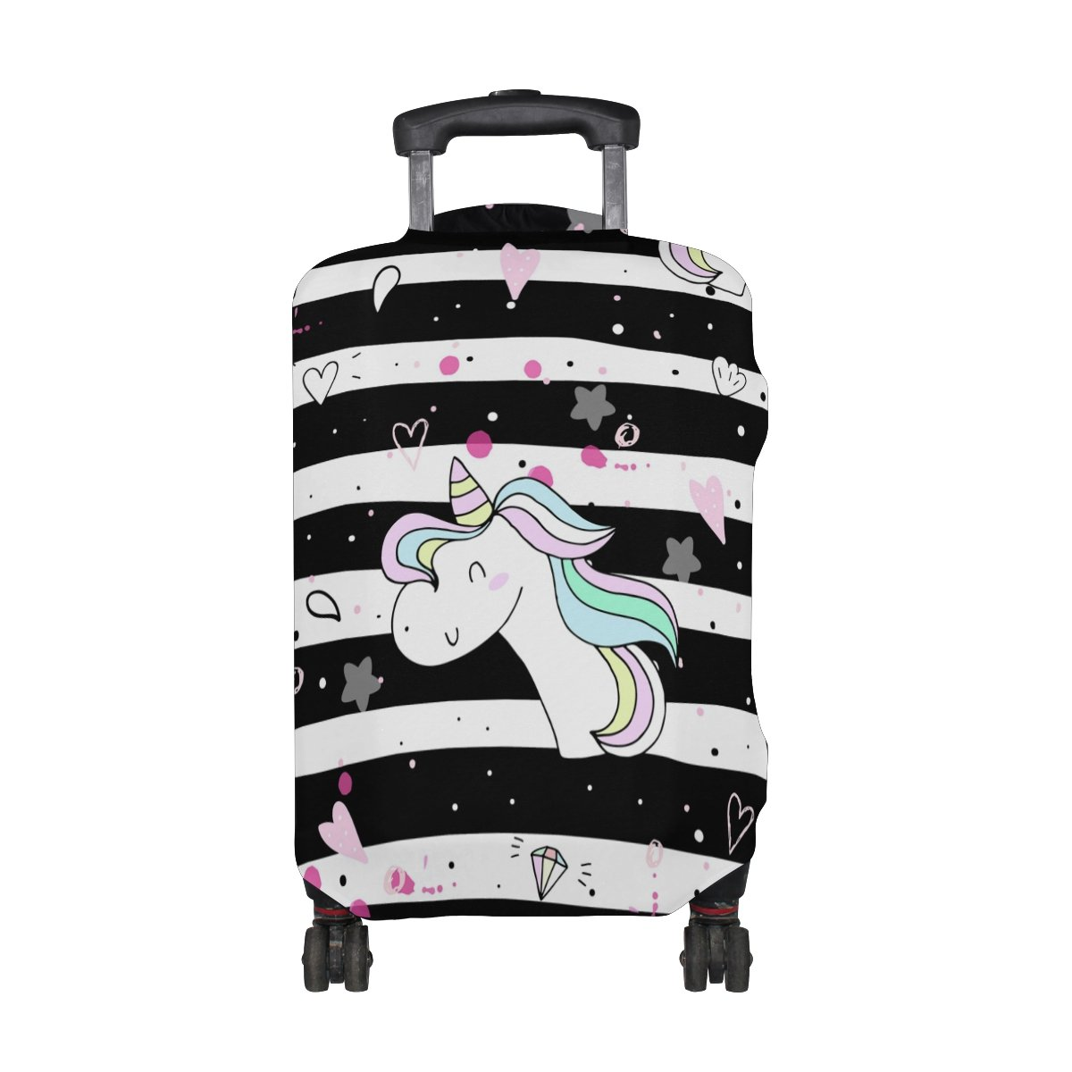 GIOVANIOR Unicorns And Stars Luggage Cover Suitcase Protector Carry On Covers