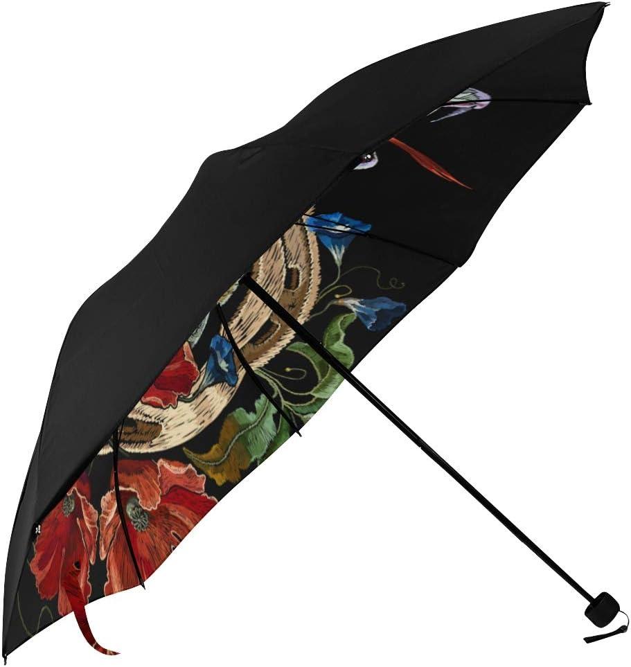 Metal Gear Solid V Venom Snake Windproof Compact Auto Open And Close Folding Umbrella,Automatic Foldable Travel Parasol Umbrella