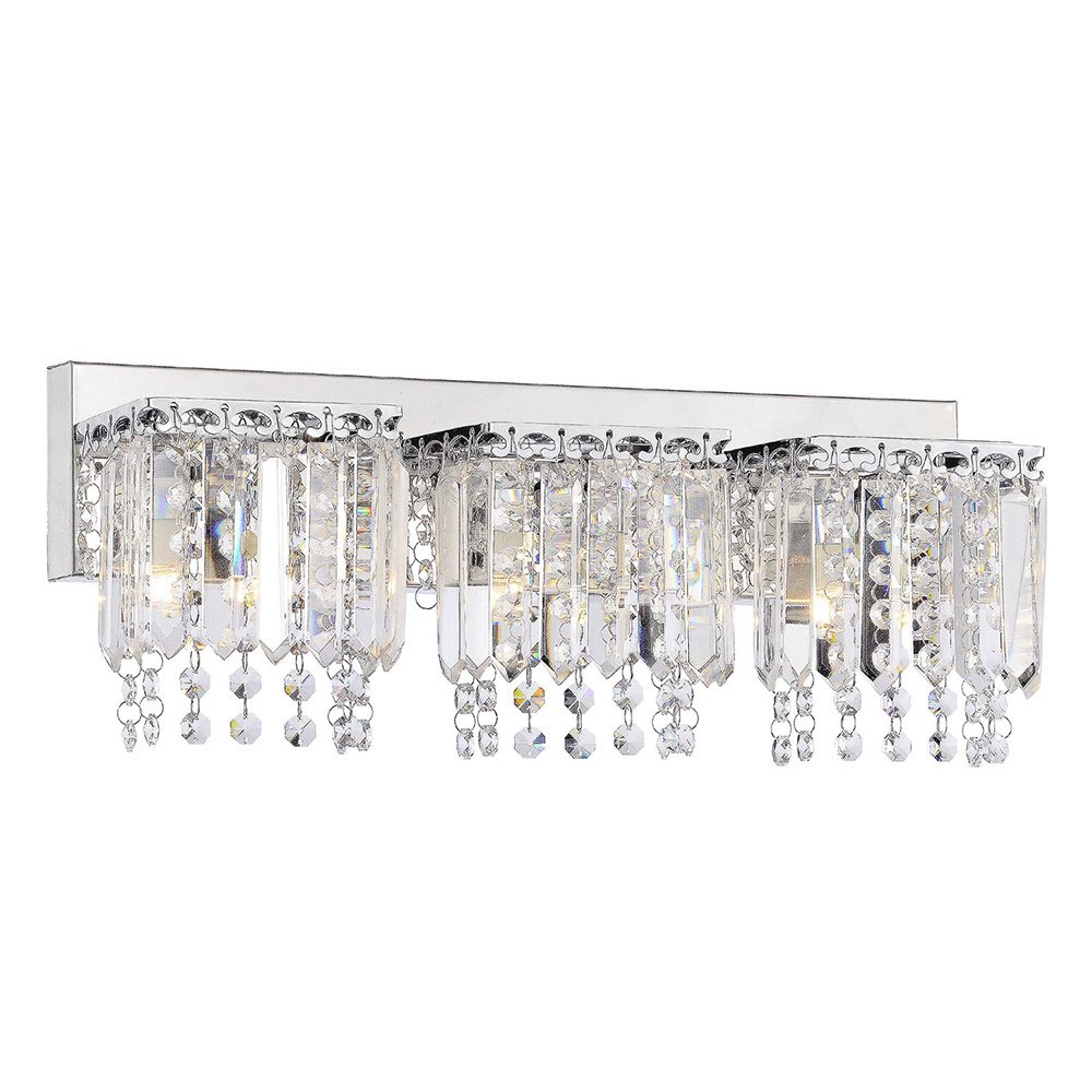 Evelyn 3 Light Crystal Strand Wall Sconce In Chrome Finish