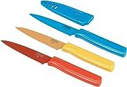 Kuhn Rikon Straight Paring Knife with Safety Sheath,