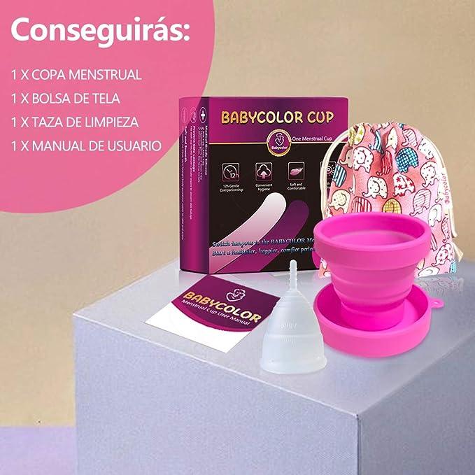 Copa Menstrual-copa menstrual más recomendada-Incluye una bolsa de regalo - Silicona suave reutilizable de grado medicinal