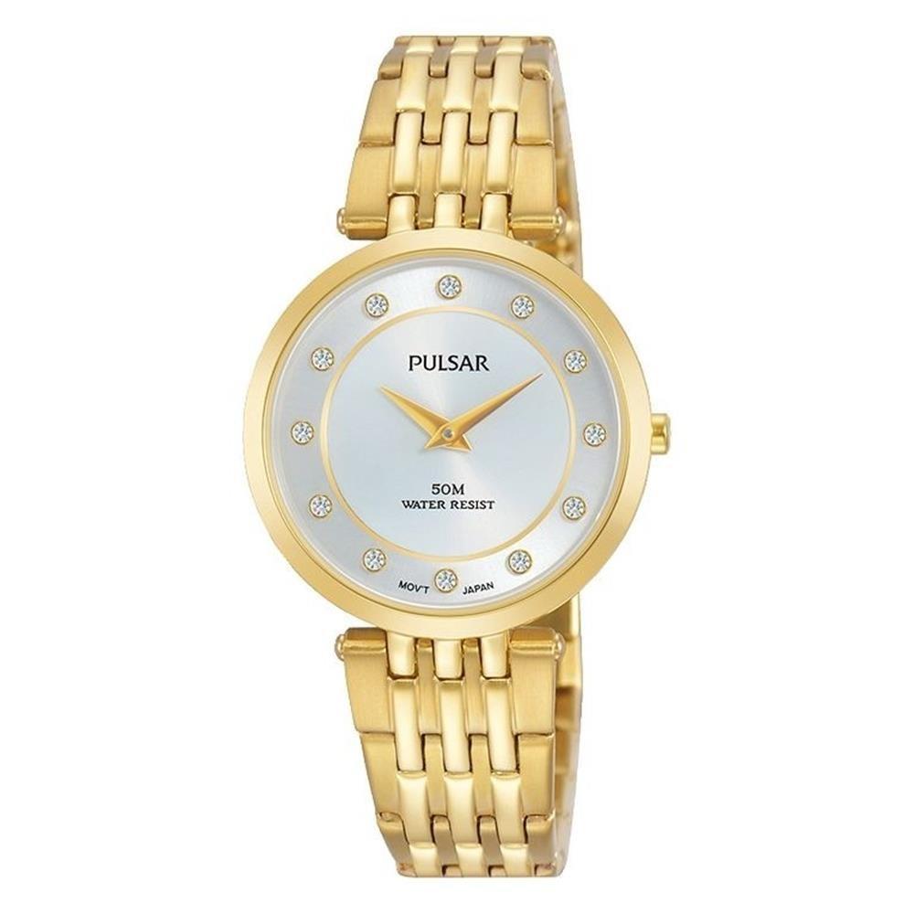 Pulsar Reloj de mujer cuarzo 29mm analógico correa y caja de acero PM2258X1: Amazon.es: Relojes