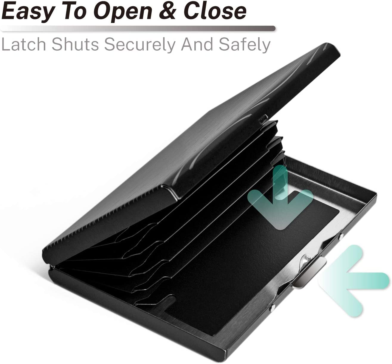 RFID Credit Card Holder Stainless Steel Credit Card Wallet Business Card Holder for Women Men Style 1