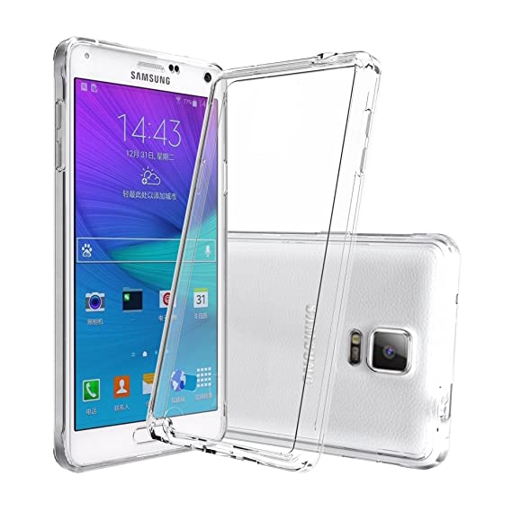 quality design 09113 c0182 AnoKe Galaxy Note 4 Clear Case with HD Screen Protector, [Scratch  Resistant] Acrylic Hard Cover with Rubber TPU Bumper Hybrid Ultra Slim  Protective ...