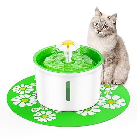 YAJAN-Gamelles Fuente de Agua para Perros/Gatos,Bebedero Automático Silenci Fuente de