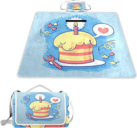 Astonishing Bennigiry Happy Birthday Wishes Cake Large Waterproof Picnic Birthday Cards Printable Trancafe Filternl