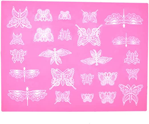 20 DELUXE 3D DOUBLE LACE BUTTERFLY// CARDMAKING// TABLE DECORATIONS// STATIONERY