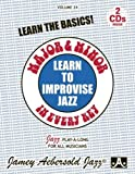 Vol. 24, Major & Minor In Every Key - Learn To Improvise Jazz (Book & CD Set)