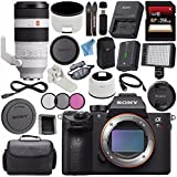 Sony ILCE7RM3/B Alpha a7R III Mirrorless Digital Camera (Body Only) FE 100-400mm f/4.5-5.6 GM OSS Lens SEL100400GM + 256GB SDXC Card + Professional 160 LED Video Light Studio Series Bundle