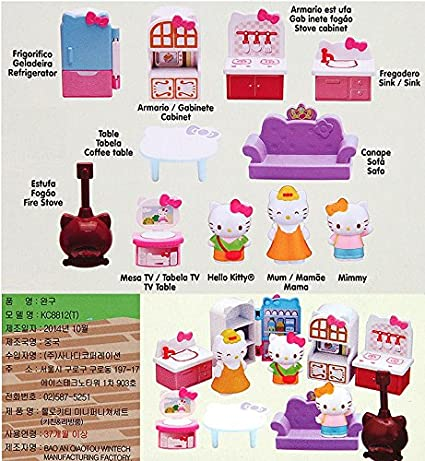 Amazon.com : 20000 Hello Kitty Mini furniture set - Kitchen & Living Room VA8905 : Baby