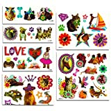 Kitten and Puppy Stickers and Tattoos Party Favors Pack (Over 240 Stickers and 75 Temporary Tattoos, Party Supplies)