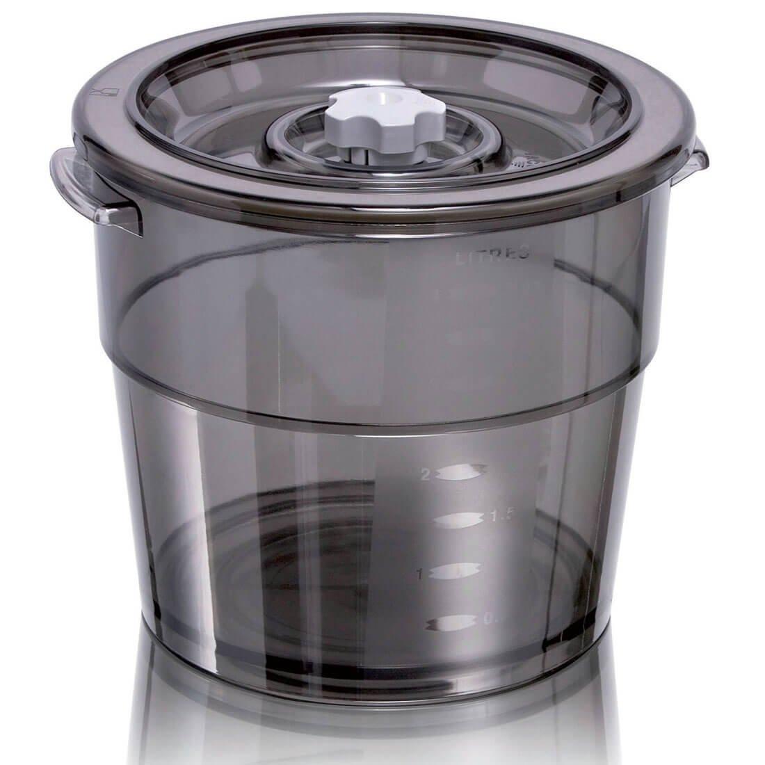 Magic vac aco1004Round Pan 1.5L Grey, transparent 1pc (S) Food Storage Container–Food Storage, (103mm, 1PC (S)) (103mm 1PC (S)) RI8956/70