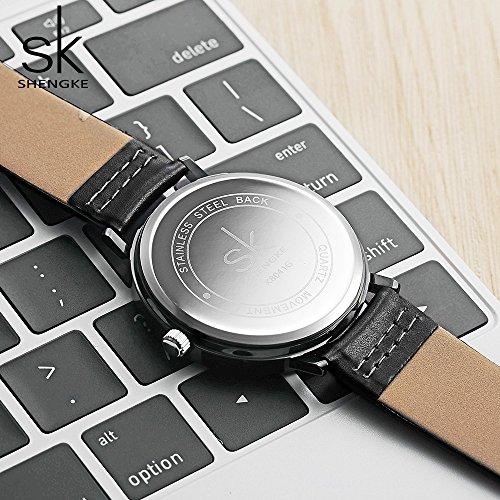 SINOBI Dress Wrist Watch Set Casual Classic Stainless Steel Quartz Wrist Business Analog Watch for Couple by SINOBI (Image #4)