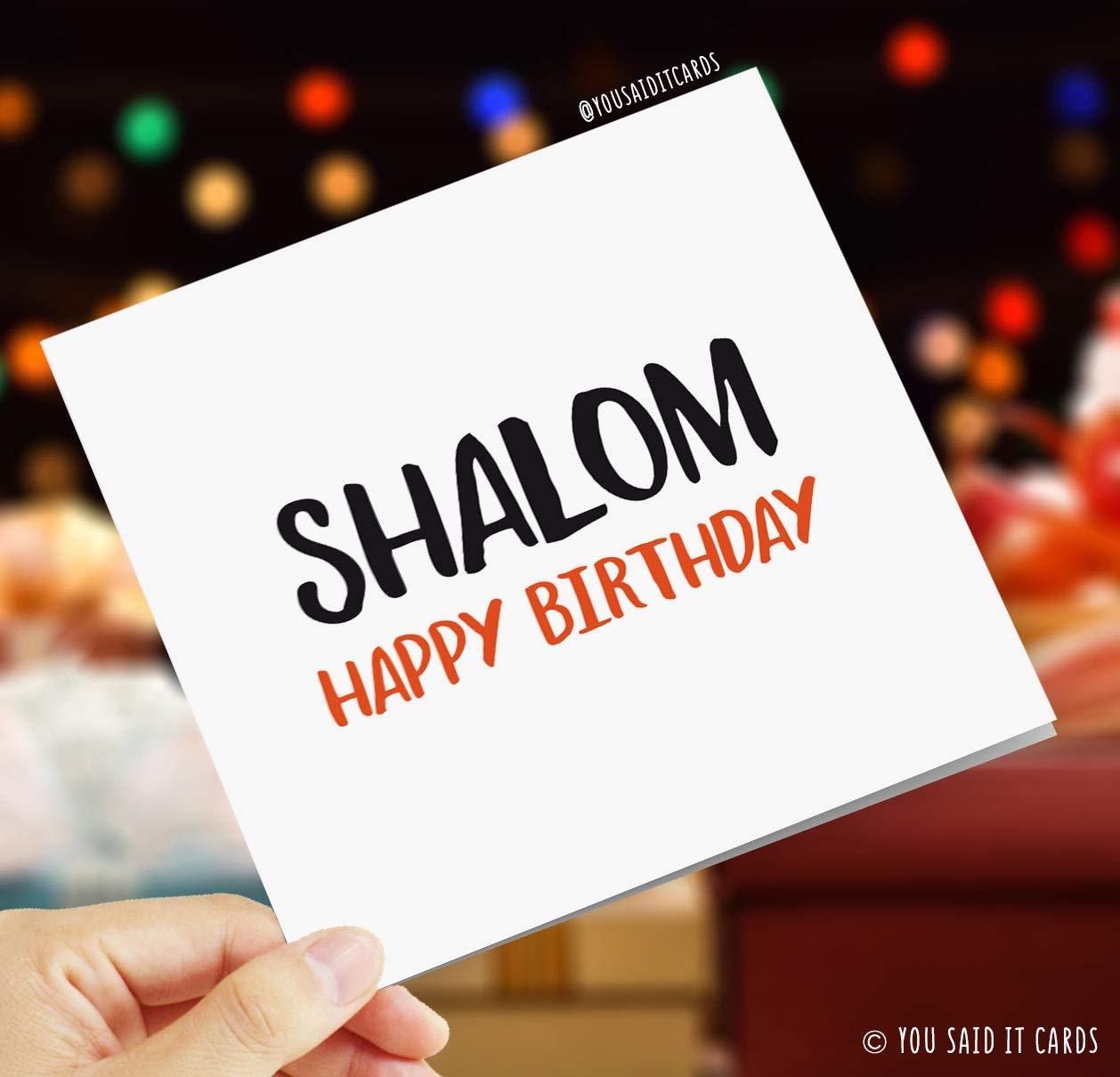 Shalom Happy Birthday