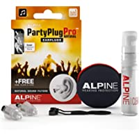 Alpine PartyPlug Pro Tapones auditivos lineales filtrados para Fiestas, festivales de música y conciertos - Atenuación…