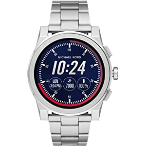 Michael Kors Mens Silvertone Grayson Smartwatch