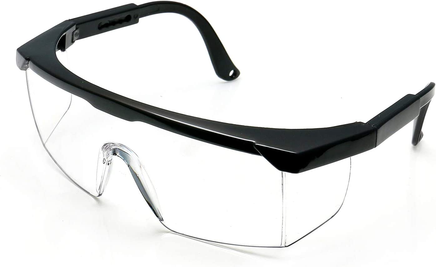 Safety Glasses Protective Goggles Eye Protection Anti-Fog Lens Adjustable Legs