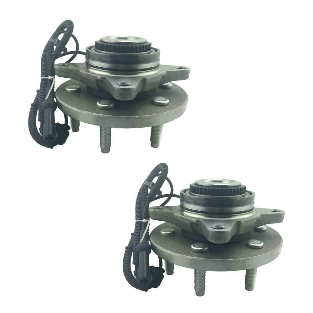 HU515119 x 2 (Set of 2) Brand New Wheel Bearing Hub Assembly Front Driver and Passenger Side (6 Lug 4WD) Fit 09-10 Ford F150 Longgo