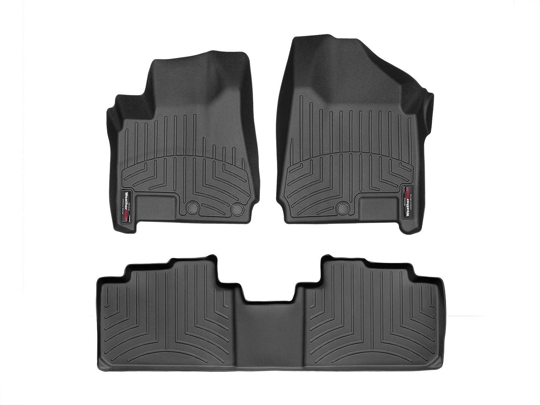 WeatherTech Custom Fit FloorLiner for Cadillac SRX -1st & 2nd Row (Black)