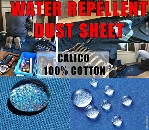 WATER REPELLENT CALICO DUST SHEET FOR PLUMBERS, DECORATORS & HEATING ENGINEERS JMS Bridge