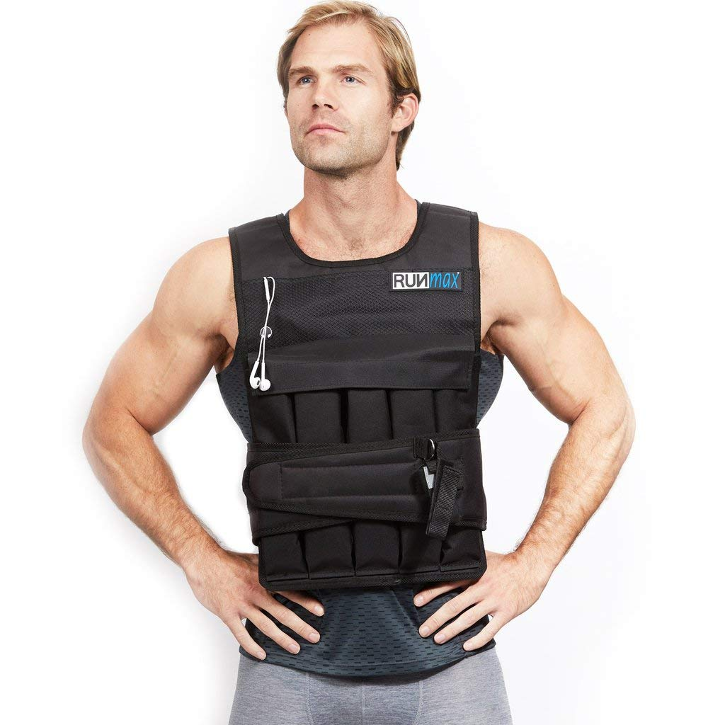 RUNFast Pro Weighted Vest 12lbs-60lbs (Without Shoulder Pads, 12 LB) by RUNmax (Image #1)