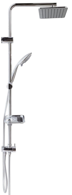 Duschset mit Thermostat Regendusche Duschgarnitur Duschsystem Brauseset Dusch Set Duschstange variable Halter Chrom