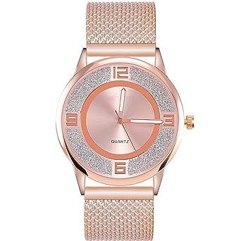 ZXMBIAO Reloj De Pulsera Reloj De Moda De Malla De Acero ...