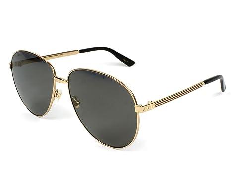 Gucci Herren Sonnenbrille GG0107S 001, Gold (Gold/Brown), 56