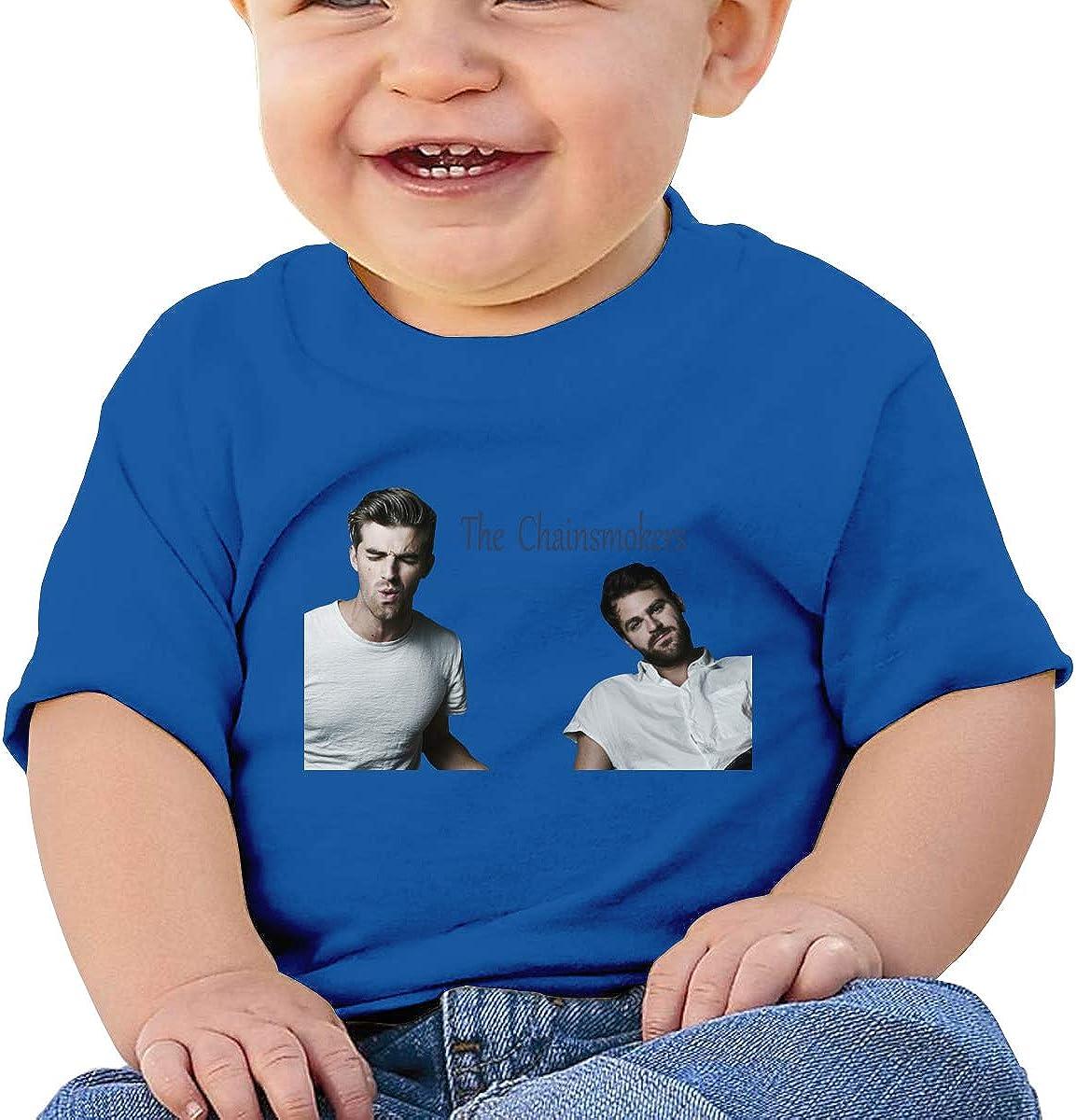 Takeyia Chainsmokers Tee Cute Baby Girl T-Shirt Black