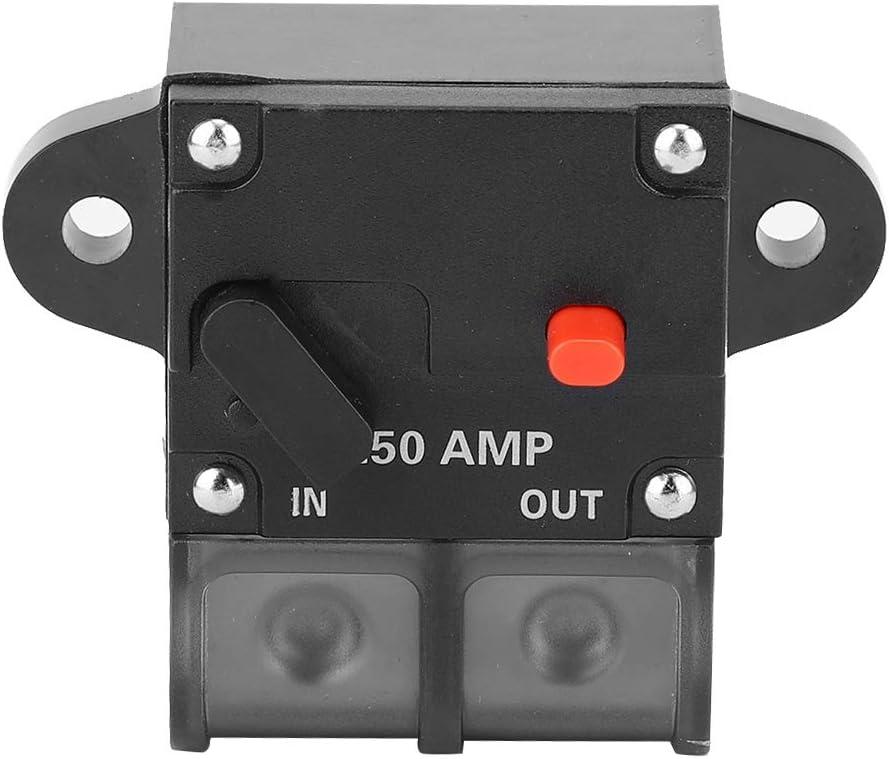 DC 12-42V Heavy Duty Car Auto-reset Inline Circuit Breaker Waterproof Self-recovery Terminal Fuse for 50A//100A//200A//250A//300A Inputs 200A Suuonee Car Circuit Breaker
