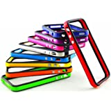 10 pcs Bumper Frame Skin Case for all iPhone 4S TPU Silicone Cover (Color available: Black-Red, Black-Orange, Black-Yellow, Black-Green, Black- Purple, Black-Blue, Black-Light Green, Black-Light Purple, Black-White, and Black-Black)