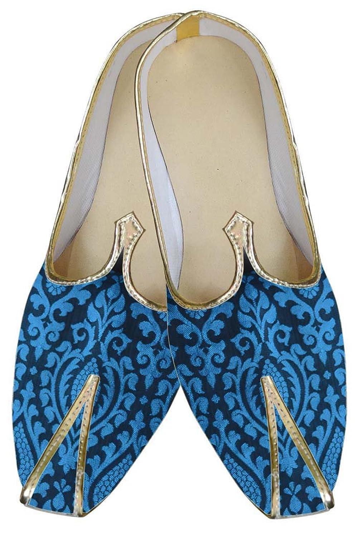INMONARCH Hombres Azul regio Bodas Zapatos MJ0082 40.5 EU