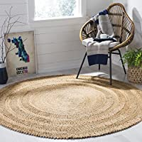 Safavieh Natural Fiber Collection NF356A Hand-Woven Natural Jute Round Area Rug (3 in Diameter)