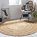 Safavieh NF356A-3R Natural Fiber Collection Vintage Area Rug, 3' Diameter,