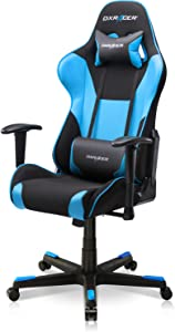 DXRacer PC Gaming Chair Racing Style Office Computer Seat Height Adjustable Recliner with Ergonomic Head Pillow and Lumbar Support, Formula Series, Standard, Black & Blue