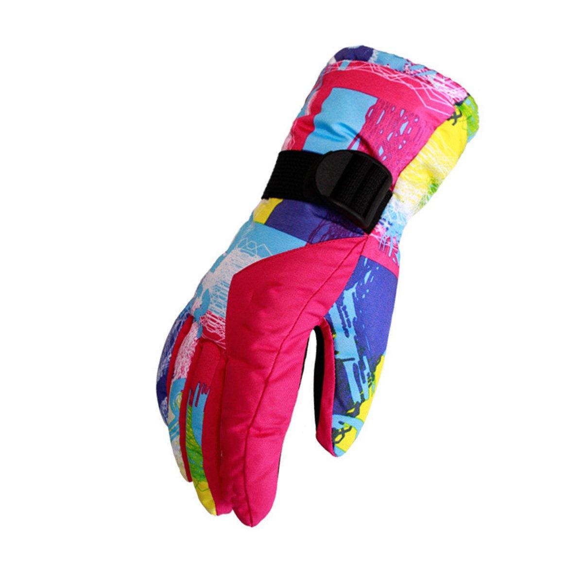 Outdoor Skifahren Handschuhe Mann Frau Wind Warm Reiten Handschuhe,RoseROT-L