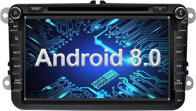 Ohok 2 DIN Android 8.0 Autoradio 8 Pulgadas Oreo Octa Core 4GB ...