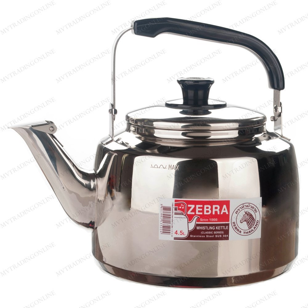 Stainless Steel Whistling Tea Pot X-Large Zeb-8690